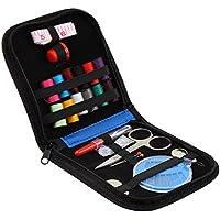 Mini Kit da cucito per casa, in viaggio con tutti i generi cucito in custodia compatta (colori casuali)