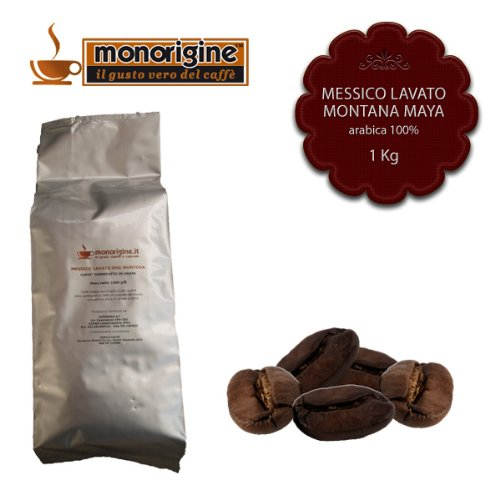 Caffè in Grani Messico Lavato SHG Montana Maya 1 Kg - Caffè Monorigine Arabica 100%