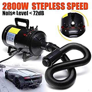 Autofather Dog Hair Dryer 2800W Stepless Wind Speed Cold or Hot Wind Grooming Blaster Snow Blower with 3 Different Nozzles Low Noise