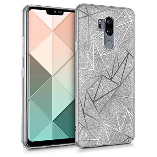 kwmobile LG G7 ThinQ/Fit/One Hülle - Handyhülle für LG G7 ThinQ/Fit/One - Handy Case in Silber