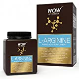 WOW L-Arginine Amino Acid Supplement - 1000mg L-Arginine - 60 Vegetarian Capsules
