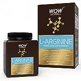 WOW L-Arginine Amino Acid Supplement - 1000mg L-Arginine - 60 Vegetarian Capsules