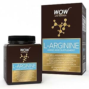 Wow 1000 Mg L-Arginine Amino Acid Supplement - 60 Vegetarian Capsules