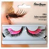 Stargazer No.53 Feathered False Eye Lashes (Pink)