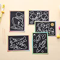 RONSHIN Children DIY Magic Scratch Art Painting Paper Educational Scraping Drawing Pictures Toys(Random pattern)