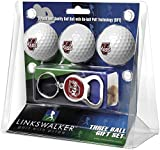 NCAA Massachusetts Minutemen Ball Gift Pack with Key Chain Bottle Opener (3 Pack), One Size, White