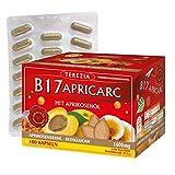 TEREZIA B17 Apricarc mit Aprikosenöl aus Aprikosenkerne, Austernpilz, Reishi und Sanddorn 1600 mg Vitamin B17 Kapseln (180 St)