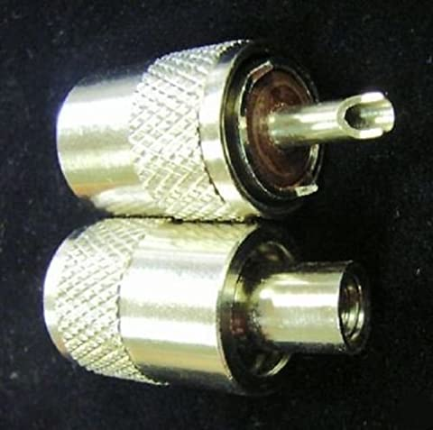 PL259 CONNECTORS PLUGS FOR 9MM RG213 COAX CABLE TWIN PACK by Rocket Radio