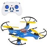 Sky Rover - Mini dron radio control de 4 canales y giros 360º, 16 x 16 cm (41832)