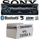 Opel Zafira A - Sony MEX-N4200BT | Bluetooth CD/MP3/USB Autoradio - Einbauset