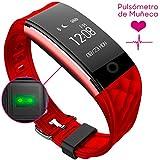 Woxter Smartfit 15 Red - Pulsera inteligente resistente al agua, protección IP67, bluetooth 4.0, acelerómetro de tres ejes y G-sensor, Monitorización del sueño y de ejercicios indoor y outdoor a través de APP, color rojo