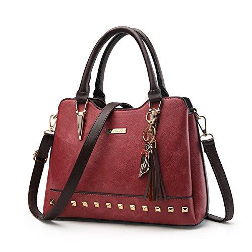 d0f78060c9d3f Ruiren Multifunktions Soft Bag Süße Damen Messenger Bags Umhängetasche  Burgund
