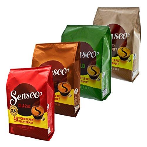 Senseo Hamsterkauf Set2, Notfall Vorrats Pack, Kaffeepads, 4 Sorten, 192 Pads / Portionen