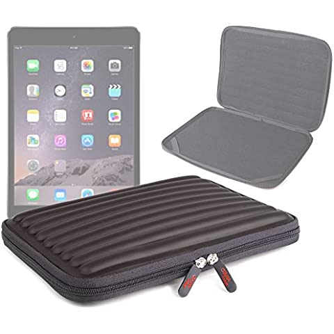 DURAGADGET Funda Negra Protectora Para Apple iPad Air 2 ( Wi-Fi, Wi-Fi + Cellular ) - Material Espuma Con Memoria - Forma Ondulada