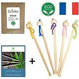 Oriculi en Bambou 5x - Cure Oreille Écologique pour Remplacement Coton Tige | Design Original + E-Book