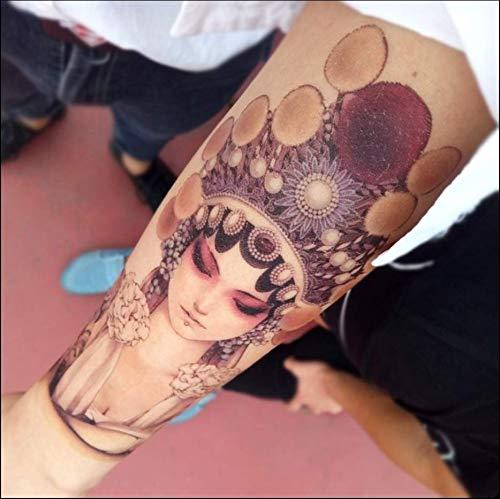 ruofengpuzi Geisha Flower Color Tattoo Aufkleber Wasserdicht Dauerhafte Männer Und Frauen Concealer Ins Wave Koreanische Simulation Geisha Halloween-make-up