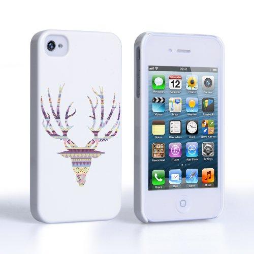 Caseflex Coque iPhone 4 / 4S Etui Pourpre Aztec Cerf Dur Housse