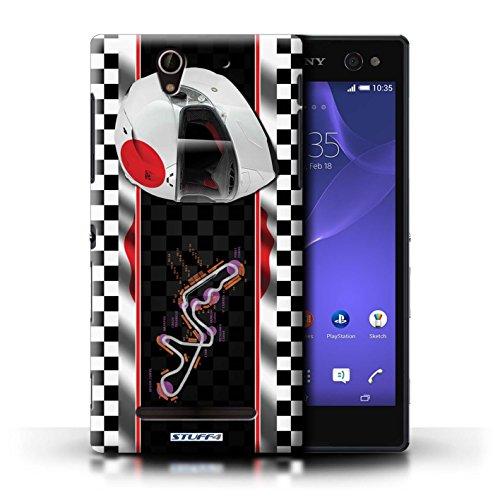 Kobalt® Imprimé Etui / Coque pour Sony Xperia C3 / Brésil/SãoPaulo conception / Série F1 Piste Drapeau Japon/Suzuka