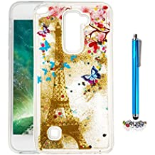 A9H Funda Transparente Dynamic Liquid Glitter Color Paillette Sand Quicksand arena movediza Star Back Cover Case para LG G4 Stylus2 LS775 shell -14HUA