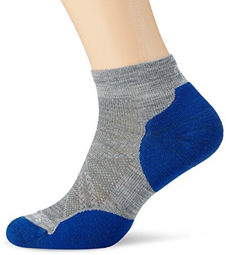 Smartwool Herren PHD Run Light Elite Low Cut Socken, Gray/Dark Blue, XL