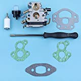 AiCheaX Strumenti Kit guarnizioni Strumento di Regolazione cacciavite carburatore per McCulloch CS340 CS380 CS 340 Lampadina per Primer Motosega Filtro Carburante Ricambi