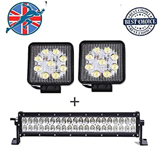 LED Leuchtmittel Spot Flood Combo Arbeit fahren Lampe Platz Off Road SUV Boot Traktor Recovery Pickup Truck LKW Kran Licht Bar 27W 120W