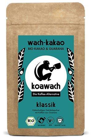 koawach Klassik Trinkschokolade mit Guarana Wachmacher Kakao - Bio, vegan und fair gehandelt (220g) Test