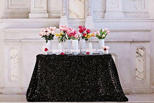 del von Pailletten Tischdecke schwarz 60x 120gold Hochzeit Set Pailletten Tischdecke (Halloween-dekoration Großhandel Preise)
