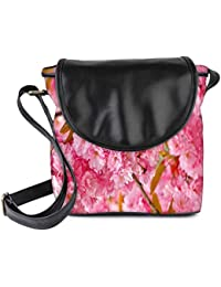 Snoogg Unique Flowers Womens Sling Bag Small Size Tote Bag