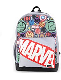 QIPS By HMI Marvel Comic Avengers 17 Inch / 20 Ltrs Casual Backpack with Faux Leather Base (Marvel Avengers)