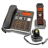 Switel D300 Vita Comfort DECT Telefon Set mit Mobilteil, Notruf-Anhänger, großen beleuchteten Tasten und Displays, hörgerätekompatibel