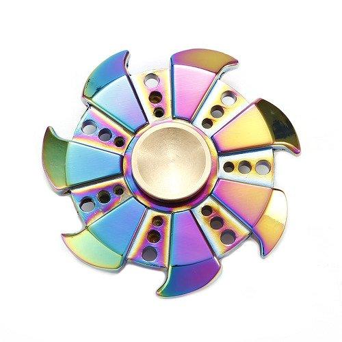 Maxesla Hand Spinner Fidget Juguete Aleación de aluminio de Spinner Teniendo Alta Velocidad Aliviar el Estrés, Ansiedad, TDAH y Aliviar el Aburrimiento Curiosamente, Regalos Perfecto para ADD, ADHD, ansiedad y autismo Adultos Niños