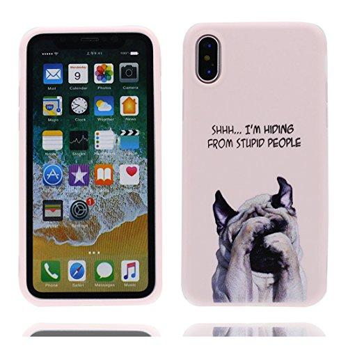iPhone X Custodia, iPhone 10 Copertura Crystal Case gel trasparente [Slim-Fit] [Anti-Scratch] [assorbimento di scossa] [Supporta la ricarica wireless] iPhone X Copertura (fiore Margherite) # 7