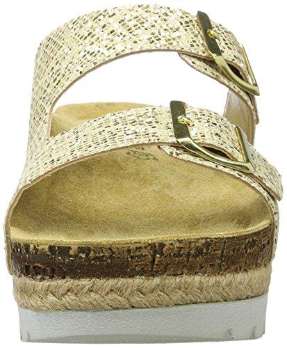 Tamaris Damen 27225 Pantoletten Silber (LIGHT GOLD 909)