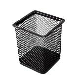 Abfalleimer, rund, Drahtkorb, metall, Square - Black, 7.7 x 7.7 x 9.5 cm