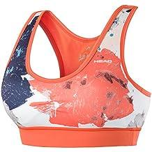 Head Vision Graphic Camiseta de Tenis, Mujer, Naranja (Corail), M