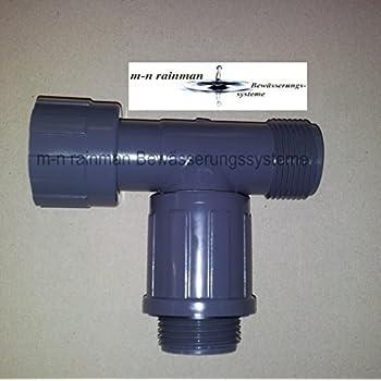 PVC-Verschraubung//Verteiler Rain Bird Doppel-T-St/ück 1 Innengewinde; 2 Ausl/ässe 1 Au/ßengewinde
