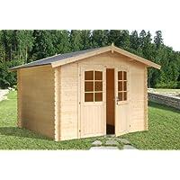 Casa de Jardín en madera de abeto - Dimensiones: 7 m²; 295 x 295 cm; 28 mm