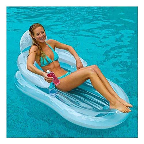 JLBao Aufblasbare schwimmende Bett Sofa Schwimmen Schwimmen Ring schwimmende Reihe Raft Pool Float Erwachsene Kinder Spielzeug PVC Luftmatratze Swimming Pool Airbeds & Schlauchboote -