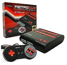 Nintendo NES, Super NES - Consola Retroduo Snes-Nes, Color Rojo Y Negro + 2 Mandos
