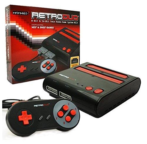 console-nes-super-nes-retro-duo-noire-et-rouge