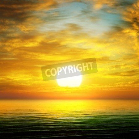 Leinwandbild sunset over