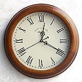 Wanduhr Modern Neu Für Jeden Raum präzise Holz- Silent Clock Retro Kreative Clock Classic Mode Wohnzimmer, 14-Zoll-,06 Brown Box M Weiße Tastatur