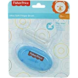 Fisher-Price Silicone Baby Finger-Brush with Case, Blue