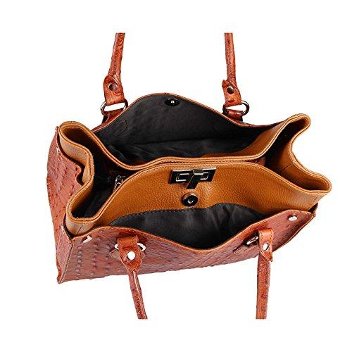 OBC Only-Beautiful-Couture, Borsa a mano donna nero nero ca.: 31x26x15 cm (BxHxT) Cognac-marrone