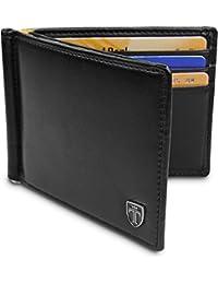 """TRAVANDO ® Portafoglio Uomo con clip per contanti""""VIENNA"""" Porta carte di credito - 8 Tasche per la Carte - Protezione RFID - Regalo perfetto per gli Uomini - Confezione Regalo - Designed in Germany"""