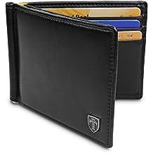 TRAVANDO ® Portafoglio Uomo con Clip per contanti VIENNA - 8 Tasche per la  Carte - Porta carte di credito - Protezione RFID - Regalo perfetto per gli  Uomini ... a00b8b0bb105