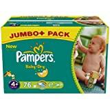 Pampers Baby Dry–Couches Taille 4 + Maxi Plus 9–20kg Jumbo Plus 1x 76