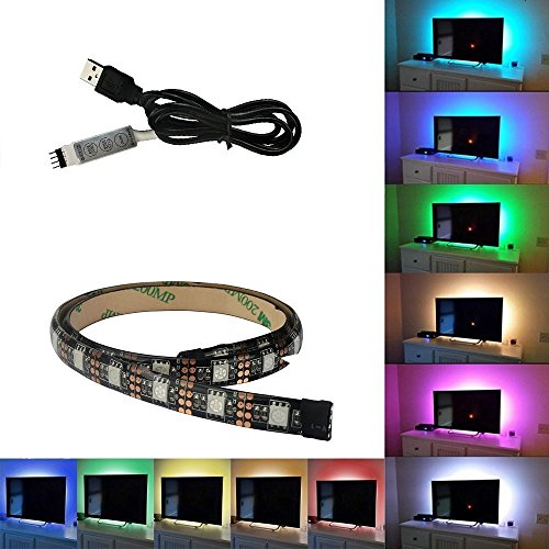 ALED LIGHT LED Streifen/Hintergrundbeleuchtung mit Farbänderung Entertainment Beleuchtung Fernsehen USB-Anschluss, 1M, 5 V, 60 LEDS (Dampf-streifen)