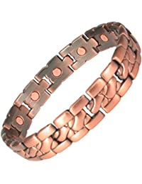 MPS® MENS COPPER RICH MAGNETIC BRACELETS ARTHRITIS PAIN THERAPY + Free Links Removal Tool
